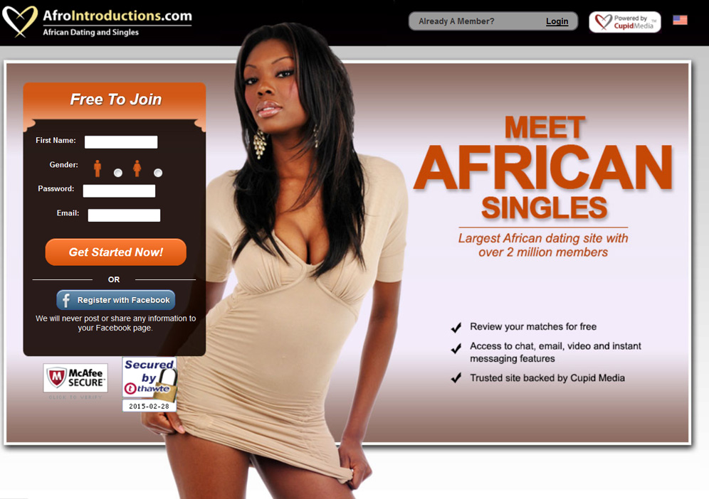 Afro dating website