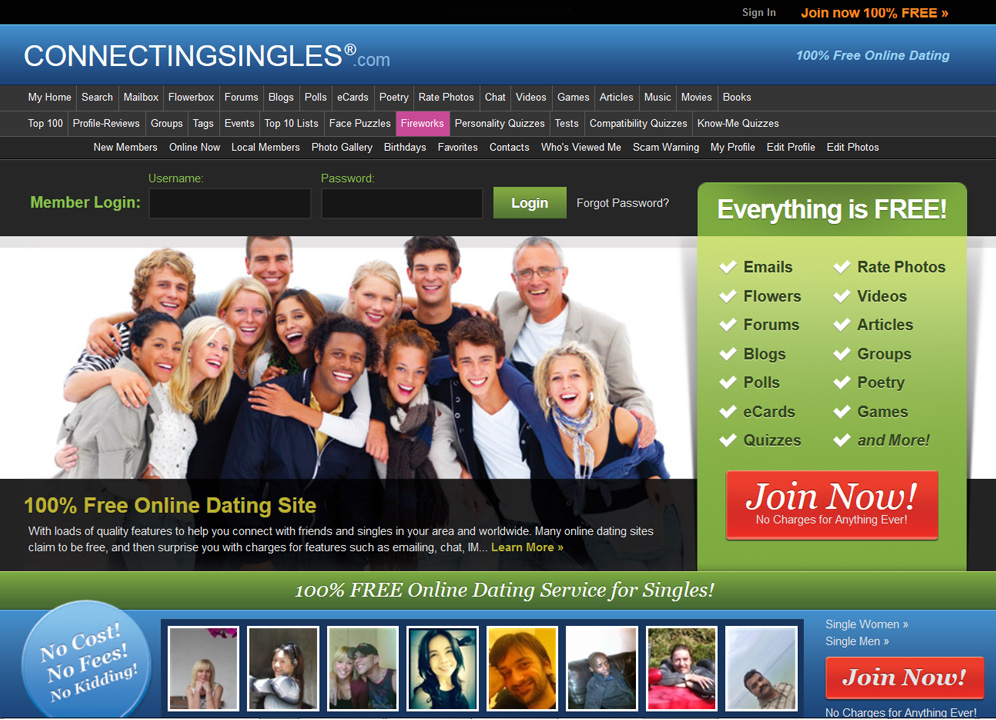 100% dating sites online