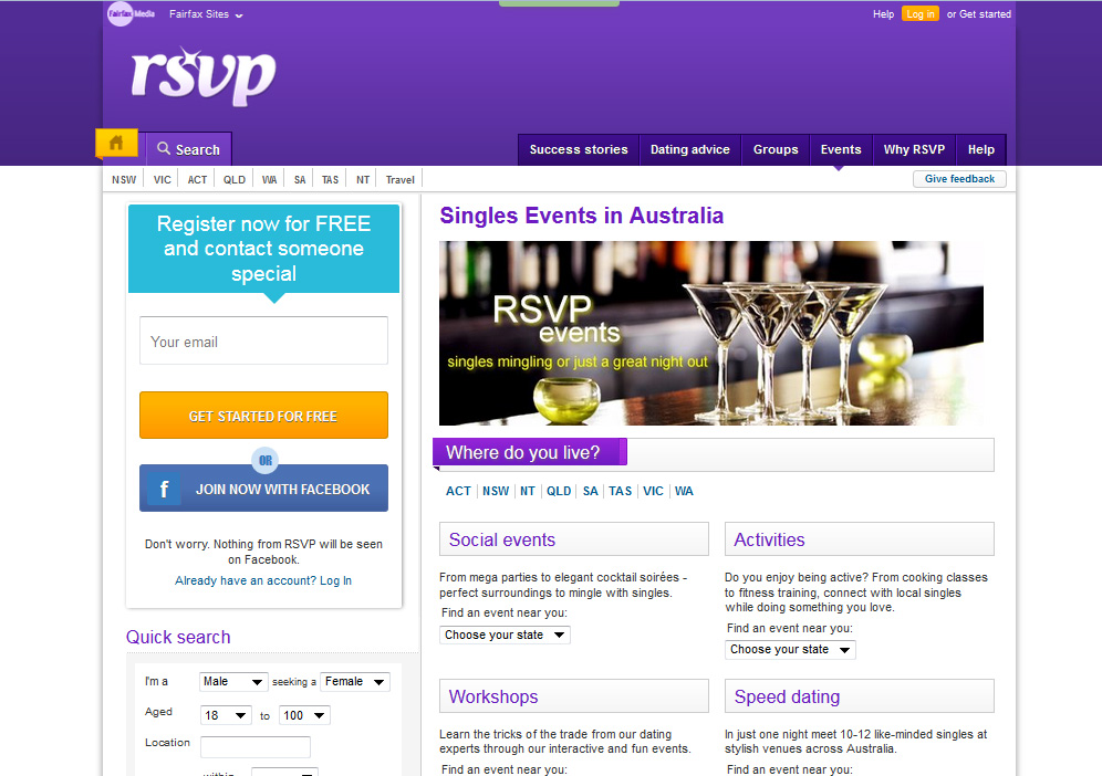 Rsvp dating website australia